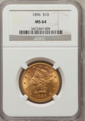 Liberty Eagles: , 1896 $10 MS64 NGC. NGC Census: (18/1). PCGS Population (8/0).Mintage: 76,200. Numismedia Wsl. Price for problem free NGC/P...