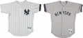 Baseball Collectibles:Uniforms, 2000 Jay Tessmer and 1993 Mike Stanley Game Worn New York Yankees Jerseys Lot of 2....