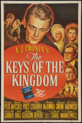 "Movie Posters:Drama, The Keys of the Kingdom (20th Century Fox, 1944). One Sheet (27"" X41""). Style A. Drama.. ..."