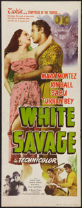 "Movie Posters:Adventure, White Savage (Realart, R-1949). Insert (14"" X 36""). Adventure.. ..."