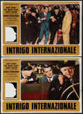 """Movie Posters:Hitchcock, North by Northwest (MGM, R-1970s). Italian Photobustas (6) (18"""" X 26""""). Hitchcock.. ... (Total: 6 Items)"""
