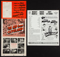 "Movie Posters:Sports, Safe at Home and Other Lot (Columbia, 1962). Uncut Pressbooks (2) (Multiple Pages, 14"" X 15.5"" and 8.5"" X 11""). Sports.. ... (Total: 2 Items)"