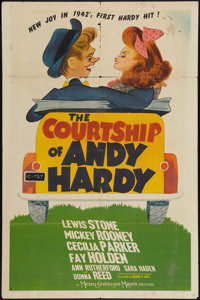 "The Courtship of Andy Hardy (MGM, 1942). One Sheet (27"" X 41"") Style D. Romance"