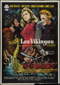 "Movie Posters:Action, The Vikings (United Artists, 1960). Italian Foglio (27.5"" X 40"")Style B. Action.. ..."