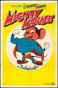 "Movie Posters:Animated, Mighty Mouse (20th Century Fox, 1943). Stock One Sheet (27"" X 41"").Animated.. ..."