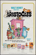 """Movie Posters:Animated, The Aristocats (Buena Vista, 1971 & R-1980s). One Sheet (27"""" X41"""") & Title Card (11"""" X 14""""). Animated.. ... (Total: 2 Items)"""