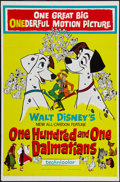 "Movie Posters:Animated, 101 Dalmatians (Buena Vista, 1961). One Sheet (27"" X 41""). Animated.. ..."