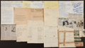Baseball Collectibles:Others, Major League and Minor League Notables Signed Sheets and EddieCollins Telegrams. ...
