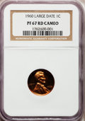 1960 1C Large Date PR67 Red Cameo NGC. NGC Census: (0/0). PCGS Population (328/95). Mintage: 1,691,602. Numismedia Wsl...
