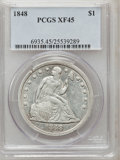 Seated Dollars, 1848 $1 XF45 PCGS....