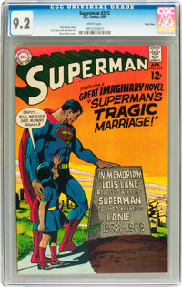 Superman #215 Twin Cities pedigree (DC, 1969) CGC NM- 9.2 White pages
