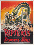 """Movie Posters:Science Fiction, Reptilicus (American International, 1962). French Grande (46"""" X63""""). Science Fiction.. ..."""