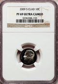 Proof Roosevelt Dimes, 2009-S 10C Clad PR69 Ultra Cameo NGC. PCGS Population (1020/382).Numismedia Wsl. Price for problem fre...