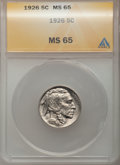 1926 5C MS65 ANACS. NGC Census: (499/172). PCGS Population (930/384). Mintage: 44,693,000. Numismedia Wsl. Price for pro...