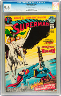 Superman #249 Twin Cities pedigree (DC, 1972) CGC NM+ 9.6 Off-white to white pages