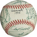 Autographs:Baseballs, 1975 Cincinnati Reds Team Signed Baseball....