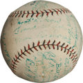Autographs:Baseballs, 1924 Philadelphia Athletics Team Signed Baseball....
