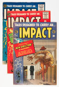Golden Age (1938-1955):Horror, Impact #1-5 Group (EC, 1955) Condition: Average VG/FN....