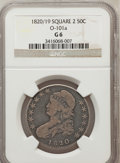 Bust Half Dollars, 1820/19 50C Square Base 2 Good 6 NGC. O-101a. NGC Census: (0/146).PCGS Population (1/107). Numismedia Wsl. Price for prob...