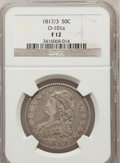 Bust Half Dollars, 1817/3 50C Fine 12 NGC. O-101a. NGC Census: (4/131). PCGSPopulation (7/171). Numismedia Wsl. Price for problem free NGC/P...