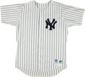 Baseball Collectibles:Uniforms, 1998 Bernie Williams Game Worn New York Yankees Jersey....