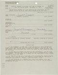 Autographs:Others, 1977 Joe DiMaggio Double Signed IRS Documents....