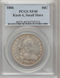 Early Half Dollars: , 1806 50C Knobbed 6, Small Stars XF40 PCGS. PCGS Population (9/13).NGC Census: (0/61). (#6075)...
