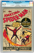 Silver Age (1956-1969):Superhero, The Amazing Spider-Man #1 (Marvel, 1963) CGC FN+ 6.5 Off-whitepages....