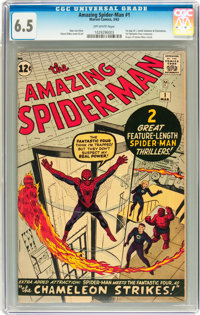 The Amazing Spider-Man #1 (Marvel, 1963) CGC FN+ 6.5 Off-white pages