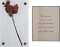 Baseball Collectibles:Others, 1948 Babe Ruth Funeral Invitation/Ticket & Rose from Ruth's Casket....