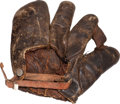 Baseball Collectibles:Others, 1927 Jimmy Cooney Glove Used to Record Unassisted Triple Play....