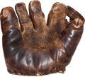 Baseball Collectibles:Uniforms, Early 1940's Al Milnar Game Used Glove from 56th Game of Joe DiMaggio's Hitting Streak....