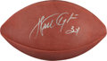 """Football Collectibles:Balls, Walter Payton Single Signed Leather """"Wilson"""" NFL Football. ..."""