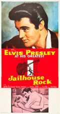"Movie Posters:Elvis Presley, Jailhouse Rock (MGM, 1957). Three Sheet (41"" X 81"").. ..."