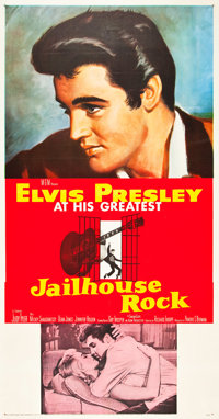 "Jailhouse Rock (MGM, 1957). Three Sheet (41"" X 81"")"