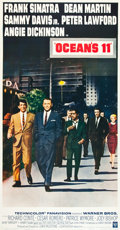 "Movie Posters:Crime, Ocean's 11 (Warner Brothers, 1960). Three Sheet (41"" X 78.5"").. ..."