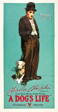 "A Dog's Life (First National, 1918). Three Sheet (41"" X 81"")"