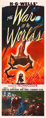 """The War of the Worlds (Paramount, 1953). Insert (14"""" X 36"""")"""