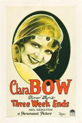 "Movie Posters:Comedy, Three Week Ends (Paramount, 1928). One Sheet (27"" X 40.75"") StyleA.. ..."