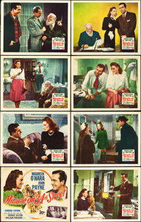 "Miracle on 34th Street (20th Century Fox, 1947). Lobby Card Set of 8 (11"" X 14""). ... (Total: 8 Items)"