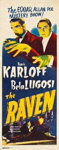 "Movie Posters:Horror, The Raven (Realart, R-1948). Insert (14"" X 36"").. ..."