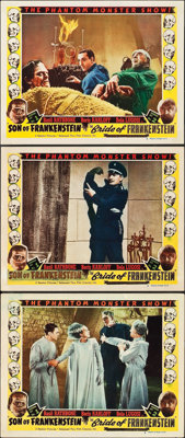 "Son of Frankenstein/Bride of Frankenstein Combo (Realart, R-1953). Lobby Cards (3) (11"" X 14""). ... (Total: 3..."