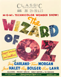 "The Wizard of Oz (MGM, 1939). Jumbo Window Card (22"" X 28"")"