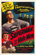 "Movie Posters:Serial, Superman and the Mole Men (Lippert, 1951). One Sheet (27"" X 41"").. ..."