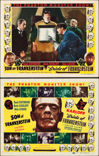 "Son of Frankenstein/Bride of Frankenstein Combo (Realart, R-1953). Title Card and Lobby Card (11"" X 14"")..."