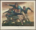 Football Collectibles:Others, 1976 Red Grange Signed Lithograph....