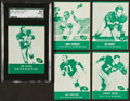 Football Cards:Sets, 1961 Lake To Lake Green Bay Packers Collection (12). ...