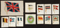 Non-Sport Cards:Lots, 1910-Era Silks Collection (122) - Flags, Flags and More Flags. ...