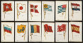 "Non-Sport Cards:Sets, 1910-Era Silks S33 and SC6 ""Flags"" Near Set (122/154). ..."