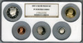 2007-S Silver Proof Set PR70 Ultra Cameo NGC. This set includes: Lincoln Cent, Monticello Nickel, Roosevelt Dime, Kenned...